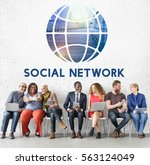social networking connection...   Shutterstock . vector #563124049