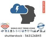 cobalt and gray brainstorming... | Shutterstock .eps vector #563126845