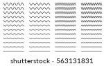 set of wavy   curvy and zigzag  ... | Shutterstock . vector #563131831
