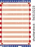 Patriotic grunge background. An american poster for your message. - stock vector