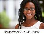 young black businesswoman... | Shutterstock . vector #563137849