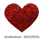 round glitter red sequin in... | Shutterstock . vector #563139241