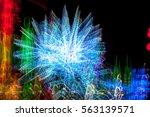 abstract lights   Shutterstock . vector #563139571