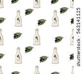 seamless vector pattern. olive... | Shutterstock .eps vector #563141125