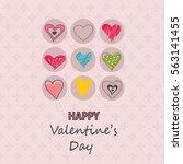 valentine's day card | Shutterstock .eps vector #563141455
