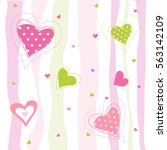 valentine's day card  hearts | Shutterstock .eps vector #563142109