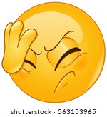 emoticon placing hand on head.... | Shutterstock .eps vector #563153965