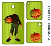 halloween tags or labels with...   Shutterstock . vector #56315536
