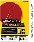 cricket tournament  flat style... | Shutterstock .eps vector #563157289