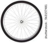 bicycle wheel | Shutterstock .eps vector #563157481
