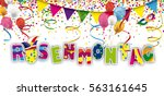 german text rosenmontag ... | Shutterstock .eps vector #563161645