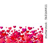 valentines day background with... | Shutterstock . vector #563164411