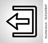 logout icon. isolated sign...