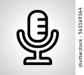 microphone icon. isolated sign...