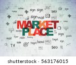 marketing concept  painted... | Shutterstock . vector #563176015