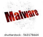 safety concept  pixelated red... | Shutterstock . vector #563178664