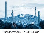 industry 4.0 concept  smart... | Shutterstock . vector #563181505