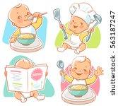 set of vector illustrations... | Shutterstock .eps vector #563187247