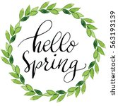 Hello Spring Ink Calligraphy...