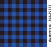 lumberjack square black blue... | Shutterstock .eps vector #563193595