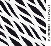 Vector seamless pattern. Diagonal wavy stripes. Geometric pattern.   Shutterstock vector #563193715