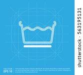 laundry symbols icon   Shutterstock .eps vector #563195131
