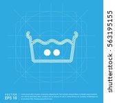 laundry symbols icon   Shutterstock .eps vector #563195155