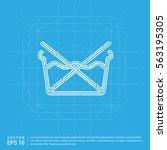 laundry symbols icon   Shutterstock .eps vector #563195305