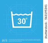 laundry symbols icon   Shutterstock .eps vector #563195341