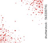 red hearts confetti. scatter... | Shutterstock .eps vector #563200741