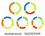 set pie charts  graphs in 2 3 4 ... | Shutterstock . vector #563205349