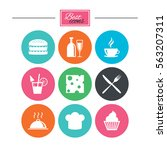 food  drink icons. coffee and... | Shutterstock . vector #563207311