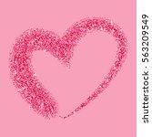glitter heart with sparkles for ... | Shutterstock .eps vector #563209549