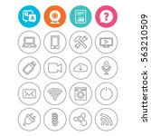 devices and technologies icons. ... | Shutterstock . vector #563210509