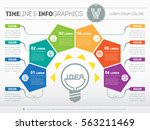 vector infographic of... | Shutterstock .eps vector #563211469