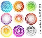 Set Of 9 Spiral Elements....