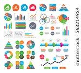 business charts. growth graph.... | Shutterstock . vector #563214934