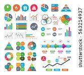 business charts. growth graph.... | Shutterstock . vector #563214937