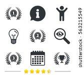 laurel wreath award icons.... | Shutterstock . vector #563215549
