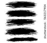 black ink vector brush strokes... | Shutterstock .eps vector #563217904