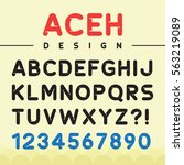 creative font for typography... | Shutterstock .eps vector #563219089