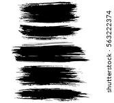 black ink vector brush strokes...   Shutterstock .eps vector #563222374