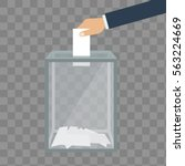 voting  election concept.... | Shutterstock .eps vector #563224669