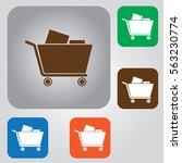 shopping cart icon.  | Shutterstock .eps vector #563230774
