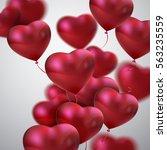 balloon hearts. vector holiday...   Shutterstock .eps vector #563235559