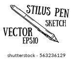 stylus pen hand draw sketch.... | Shutterstock .eps vector #563236129
