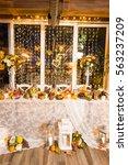 christmas themed wedding table... | Shutterstock . vector #563237209