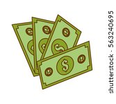 cash money related icons image... | Shutterstock .eps vector #563240695