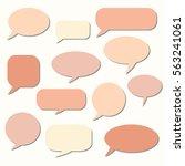 speech bubble. dream cloud.... | Shutterstock .eps vector #563241061