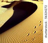 sanddunes in the desert - stock photo